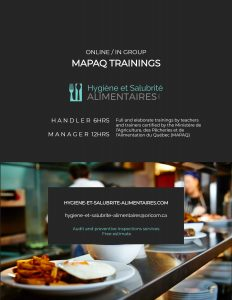 Mapaq certification online courses hygiene and food safety trainings